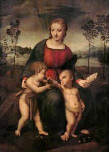 Мадонна со щеглом. Мария с младенцем и Иоанном Крестителем