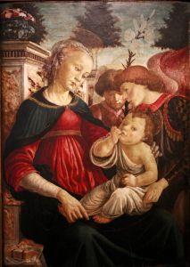 Боттичелли Сандро Мадонна с двумя Ангелами