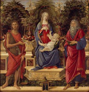 Боттичелли Сандро Мадонна со святыми