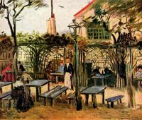 Кафе под открытым небом Генгетт на Монмартре