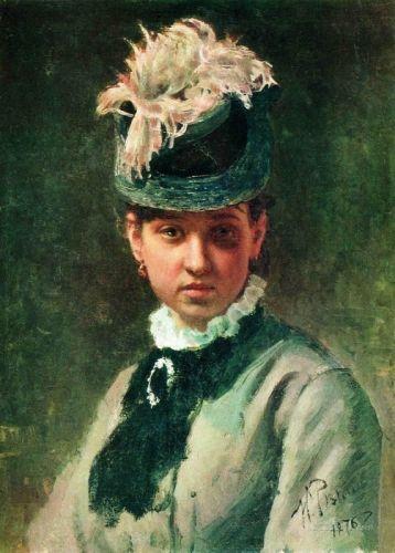 Портрет В.А.Репиной, жены художника