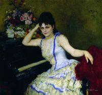 Портрет пианистки С.И.Ментер