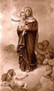 Бугеро Вильям-Адольф Богоматерь среди ангелов