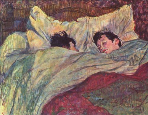 Две девушки в кровати