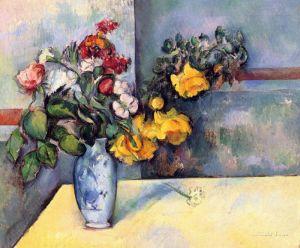 Сезанн Поль Натюрморт с цветами в вазе