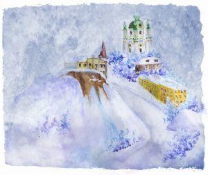 Фотокартины для интерьера Андреевская церковь в Киеве