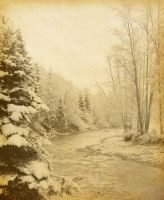 Зимняя горная река