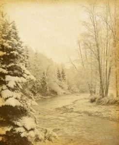 Фотокартины для интерьера Зимняя горная река