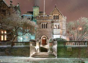 Фотокартины для интерьера Вечер зимой