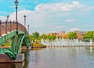 Зеленый мост и Большой Фонтан в Царицыно Парк