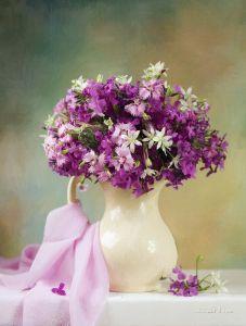 Фотокартини Квіти в білому глечику