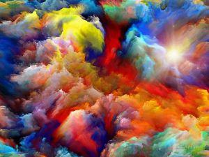 Фотокартины для интерьера Цветная абстракция