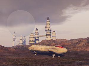 Фотокартины для интерьера Космический пейзаж