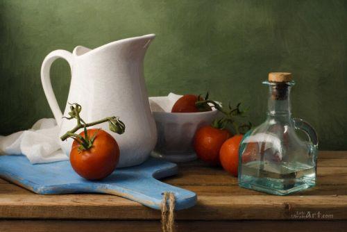 Натюрморт с помидорами