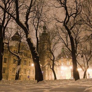 Фотокартины для интерьера Ночной Львов