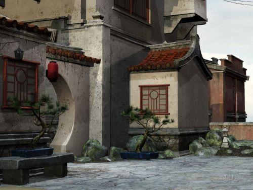 Старая японская улочка
