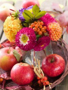 Фотокартины для интерьера Яблоки и цветы