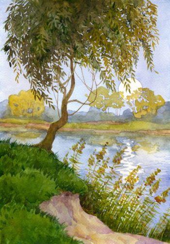 Акварельный пейзаж - изображение 1