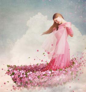 Фотокартины для интерьера В лодочке из цветов
