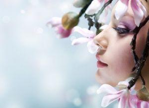 Печатные картины на холсте Девушка - Весна