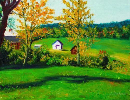 Рисованный пейзаж