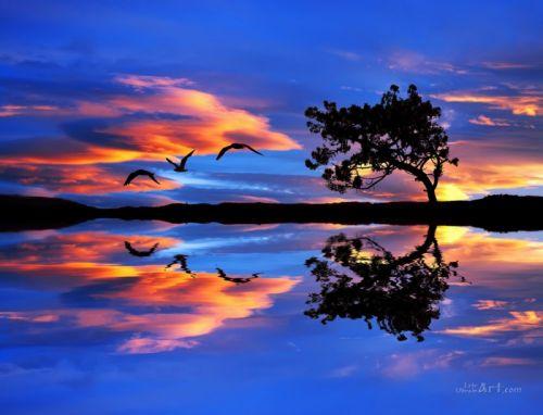Синій пейзаж