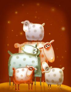 Фотокартины для интерьера Овцы