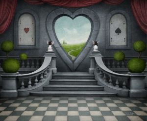 Комната с окном в форме сердца