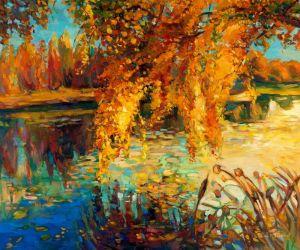 Печатные картины на холсте Осенний пейзаж