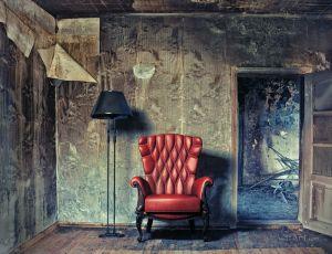 Фотокартины для интерьера Красное кресло
