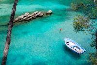 Пейзаж з човнем
