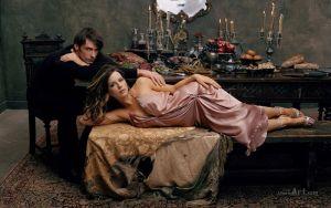 Фотокартини Закохані на фоні голландського натюрморту