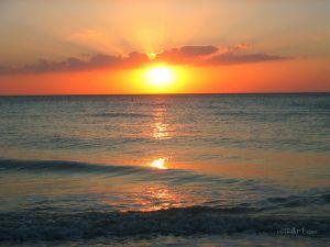 Пляж во Флориде. Закат