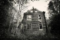 Пейзаж со старым домом