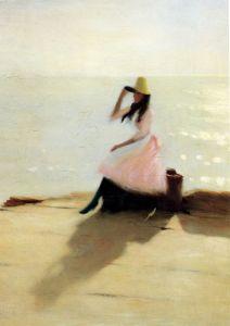 Стир Филипп Уилсон Молодая женщина на пляже