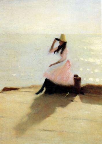 Молода жінка на пляжі
