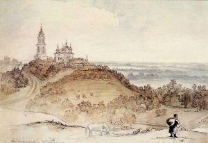 Шевченко Тарас Воздвиженский монастырь в Полтаве