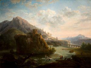 Гаккерт Якоб Горный пейзаж с замком