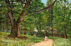 Гуляющие по парку Фрисен