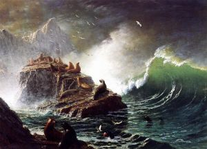 Бирштадт Альберт Тюлени на скалах острова Фараллон