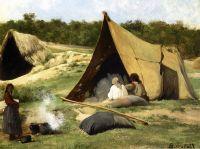 Табор индейцев