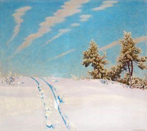 Фьюэстад Гюстав Следы в свежем снеге