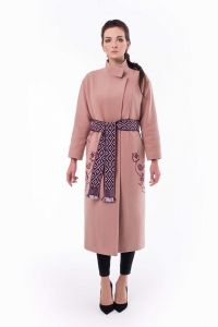 Одежда из льна Пальто Царина пудра