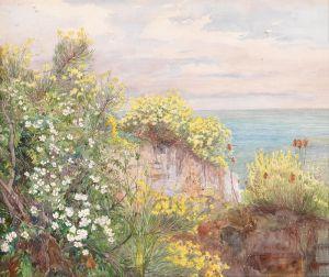 Шарлемон Гуго Морское побережье с можжевельником и дикими розами