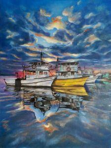 Мальовані картини Човни