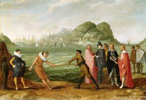 Барокко Аллегория победы голландцев над испанцами в Гибралтаре 25 апреля 1607