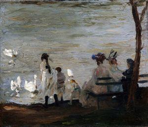 Беллоуз Джордж Уэсли Лебеди в Центральном парке
