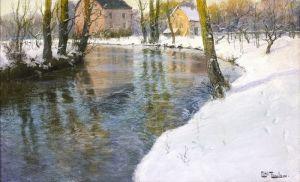 Таулов Фриц Зимний пейзаж с рекой