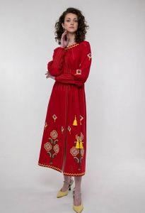 Жіночі вишиванки Вишита сукня Меланка червона
