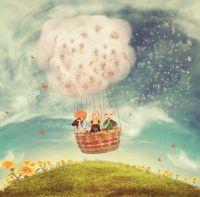 Дети на воздушном шаре